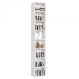 Homfa 180cm biblioth que tag re meuble de rangement cd colonne musique pour bureau salon - Etageres pour salon bibliotheques bureau ...