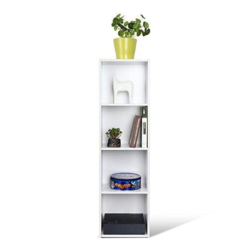 Homfa tag re biblioth que armoire etag re de rangement pour livres bureau salon blanc - Etageres pour salon bibliotheques bureau ...