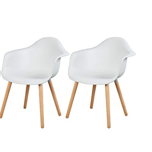 Fauteuil De Salle à Manger Design: ESituro SDC0014 Chaise Design Lot De 2 Fauteuil Salon En
